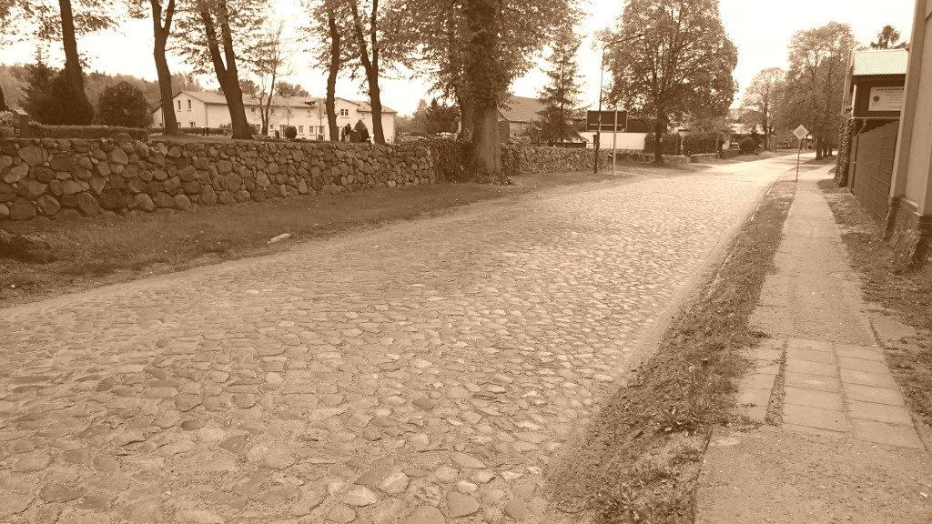 Nostalgischer Straßenbelag