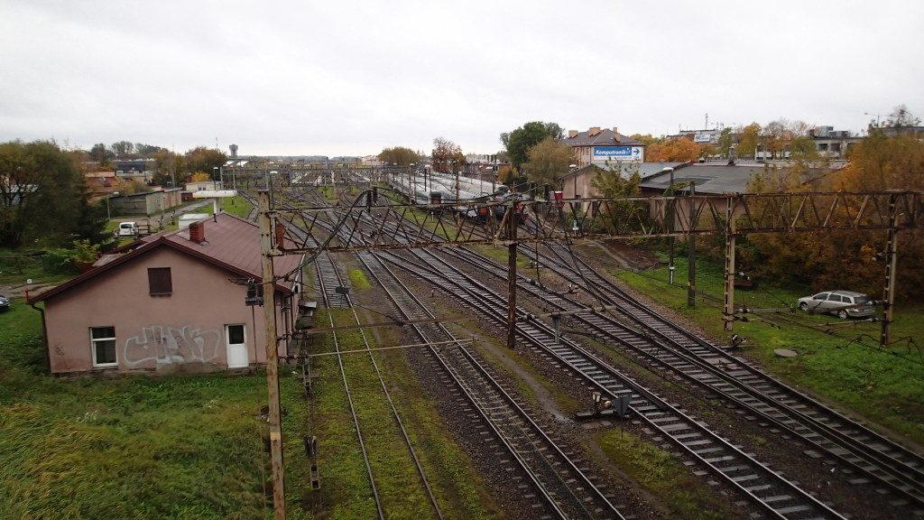 Bedeutender Verkehrshalt der Rail Baltica